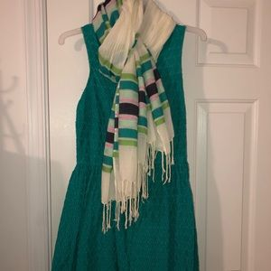 Old Navy Turquoise Dress & Scarf